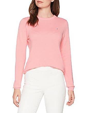 Rose Sweat Crew Gant Cotton Pink Pique geranium Shirt Femme qOqY6