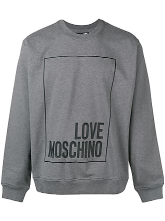 Imprimé Moschino À Logo Sweat Gris Love WTHpqBnP