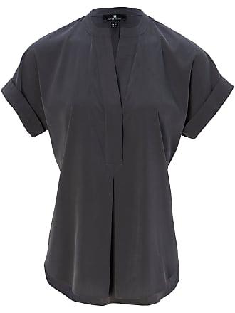 Peter bluse Shirt Hahn Rundhals ausschnitt Grau Yb6g7yIfv