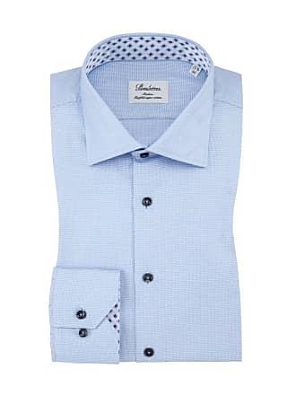 Slimline In Minimalmuster Herren Businesshemd Von Für Cotton Hellblau twofold Im Stenströms Tq40RnXR