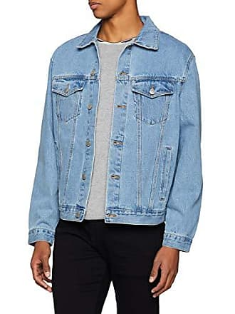 New Denim En Veste Bleu Oversized Jean Look mid Homme Blue rqSwAHrx