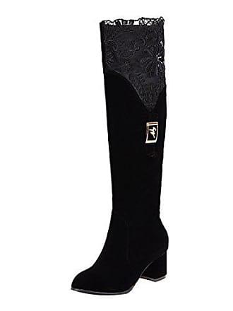 High Und Langschaft Stiefel Damen Blockabsatz Boots Bequeme Mode Spitze Overknee Mit Heels Uh 0wxqOABB