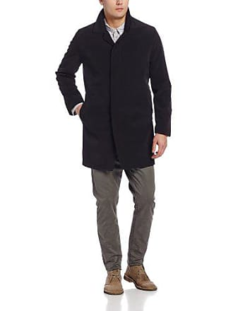 Inch Front Rally Black Kenneth Mens Small Cole Raincoat Breasted Single 36 Fly w48I18qf
