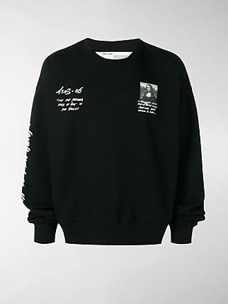 white Lisa Mona Off Print Sweatshirt dxEXxRqw