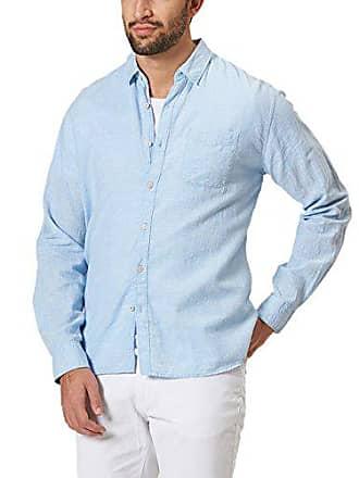 Hombre 49 Para Casual Blue Authentic light Jeans Shirt Uni Camisa 508 Pioneer Ls Blau O8xw06