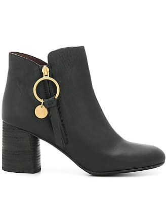 Ankle Chloé Louise Boots Noir See By Bq76xF