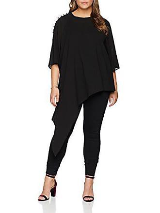 Blouse 001 Tee black 54 Shoulder Button Noir The Asymmetric Elvi With Rouleau Utako Femme Detail RqOzwxz