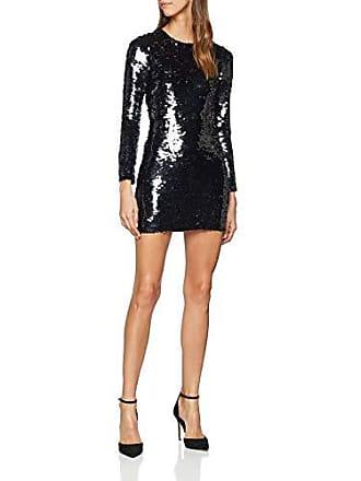 Del talla Shimmer Millen 44 Para Negro Karen Black Fabricante Uk Mujer Fiesta Vestido 16 Dress Sequin S7xgwP