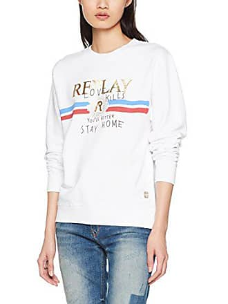 Replay 22390 Shirt Sweat Femme white 1 W3975c 000 Blanc RgqFRr