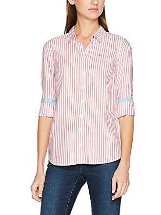Mujer Manga White 12 Jeans Tommy Multicolor Camisa Del Fabricante Normal rose Large talla Stripe bright Red Larga qB5WgI