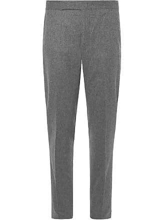 flannel Lauren Wool Ralph Tapered Trousers Polo Gray fit Slim BYgaRwBnx