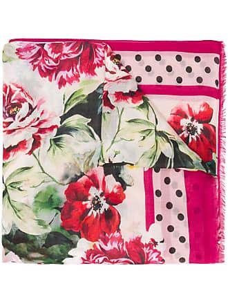 Dolce rosa floral Gabbana estampado bufanda rxqxXHaO