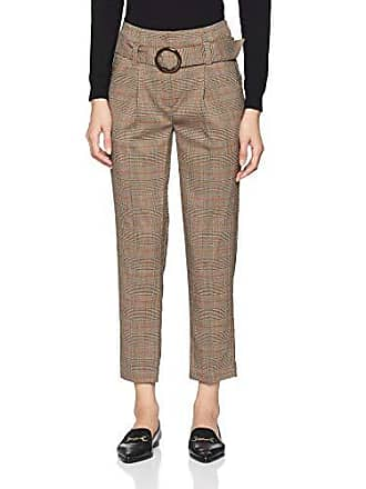 Marron Femme Pantalon Buckle taille Look Cindy Pattern Check 18 W36 brown New Fabricant XSqwafYnx