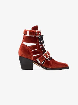 Boots Reilly Chloé Buckle 60 Velvet 4CqwU
