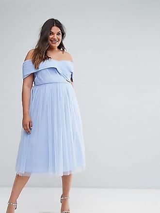 Robe Bleu Tulle En longue Wedding Curve Mi Asos EWyfSz8qW