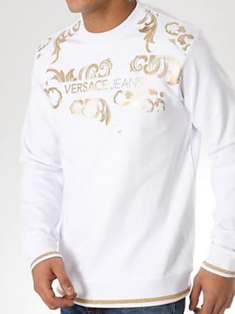 aa06edcea65 Sweat Versace Couture Blanc B7gta7fu Doré Crewneck Jeans Tup300 OEEqSr