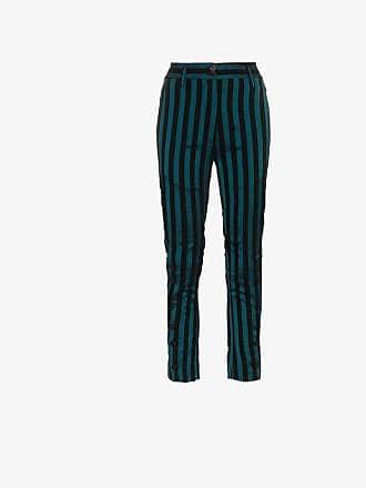 Striped Ann Blend Demeulemeester Cotton Trousers w7qx1XaOx