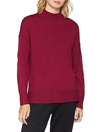 B beet Selected Rouge Highneck Slfkaluka Femme Pull Knit Red Ls TTSIqf