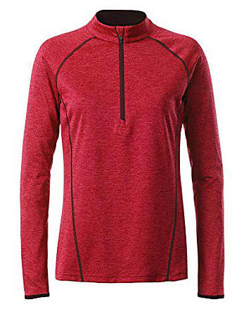 Para James red Nicholson Mujer amp; Rot Sportsshirt Longsleeve Xs melange Camiseta Ladies titan YqHCnY