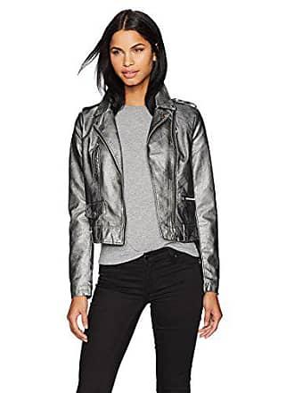 Detail Vero Femme Vmsafra Gris Fabricant 38 Leather Pewter metallic Medium Coating taille Faux Moda Blouson Jacket Short rzw5rq0