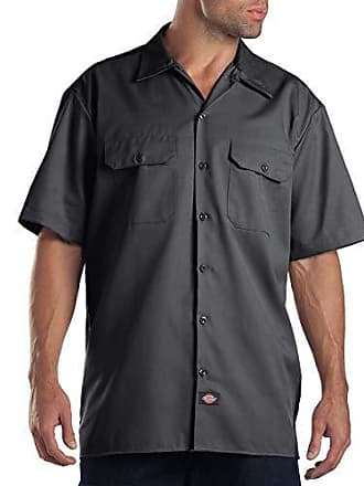 Large s Charcoal Shrt Dickies Shirt Work Freizeithemd Grey Herren A8pqwtO