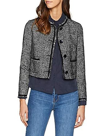 Sisley Cappotto 901 black Jacket And Medium White Mehrfarbig Donna 151rq