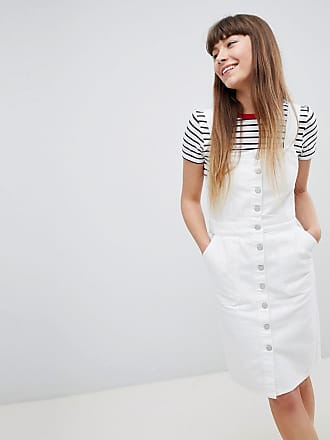 En New Boutonnée Jean Robe Blanc Look rt1qgwt