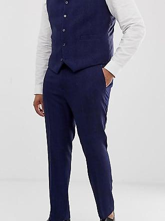 Espiga Para Ajustados Pantalones Aso Traje Azul Design Lana Plus En Asos De Boda Mezcla IA0TStq