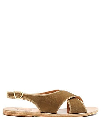 Sandals Cuir Ancient Sandales Et Maria En Greek Velours OHx5Tq1f