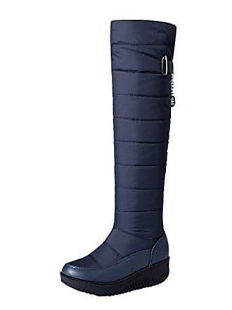 Damen Plateau Uh Stiefel Flache Warm Bequeme Overknee Schuhe Langschaftstiefel 7wwq6Ax4d