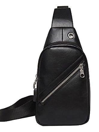 3284ab456db58 Art Männer Business Laidaye Schultertasche Und paket Tasche Brust Weise  Kapazität black onesize Diagonal Großer Mit Umhängetasche D9HIYEW2