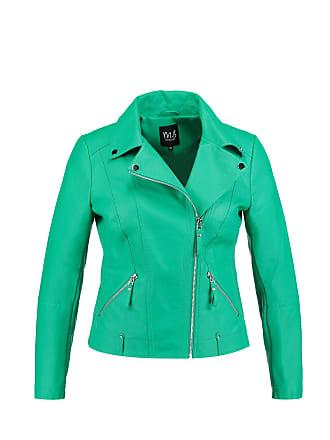 Mode Bikerjasje Dames Imitatieleren Turquoise Ms d0zRqwanzF