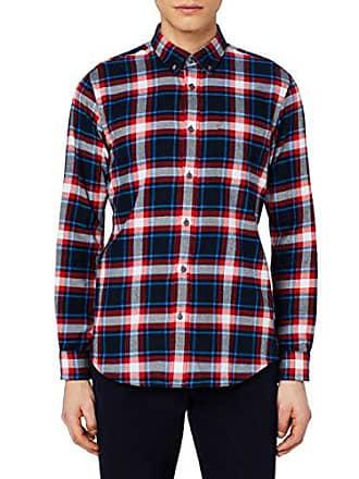 Hombre Multicolor blue Camisa black red Algodón Entallada Meraki Small Cuadros De gXwURqY