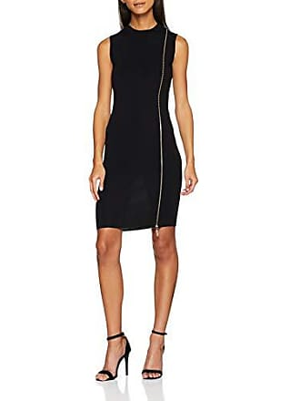 Dress talla 46 black 44 Moschino Love Negro Fabricante Para Sleeveless Mujer C74 Zipper Del Vestido 6twxP8