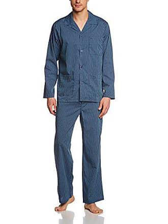Ensemble Seidensticker Bleu De Lang Pyjama Homme 800 blau Large XrqrE