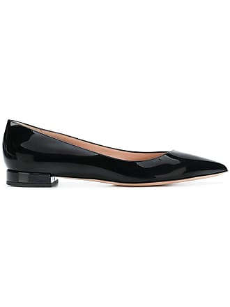Pointed Flats Toe Noir Giorgio Ballerina Armani zx5wEqHC