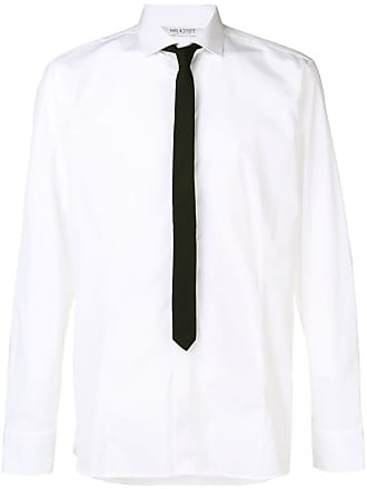 Neil Barrett Classic Corbata Blanca Contraste Wrw8gqz1xr