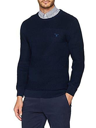 Gant Crew Shirt marine Bleu Homme Textured Sweat X Stripe wqxwg1SU