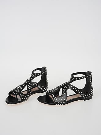 41 Alexander Studded Size Leather Mcqueen Sandals TTXw7q