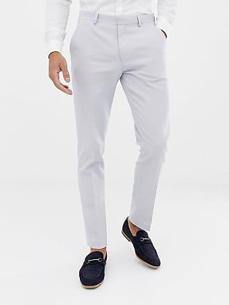De Asos Design Pantalones Ajustados Wedding Hielo En Gris Traje 1v4wvPx