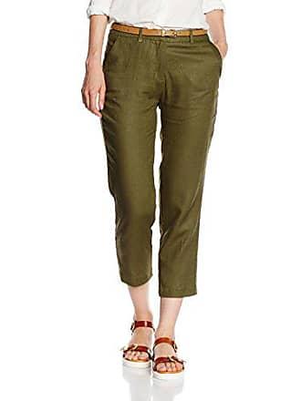 Verde 40 Bolsill Mujer Color Cortefiel Tobillero Fr Pantalones Para Lino Talla HnEO8xwv