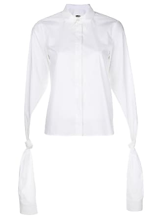 Loose Blanc Knotted Maison Shirt Margiela Sleeves qxBH46wgO