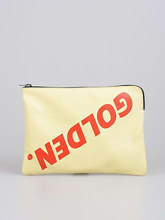 Bag Logo Toast With Clutch Printed Golden Unica Leather Goose Size vmNwn80