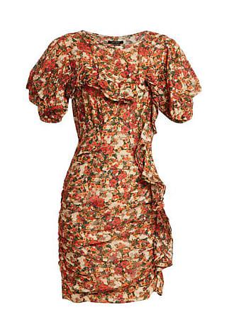Marant Floral Isabel Imprimé Mousseline À Face En Robe Volantée UrqBcWd0q