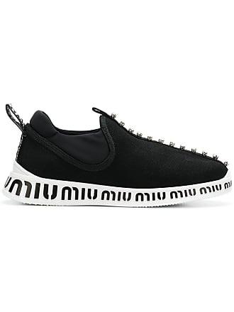 Logo Logo Miu Printed Sneakers Miu Noir Printed Noir Miu Sneakers W6UBHWc