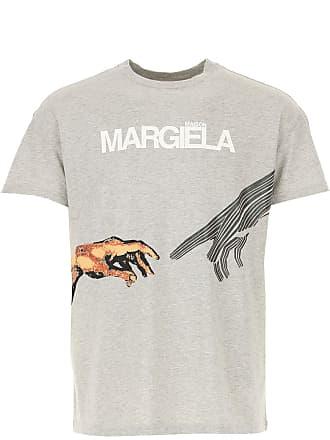 M Margiela Coton Homme Clair 2017 Gris L shirt T Maison S Mélange va6paOx