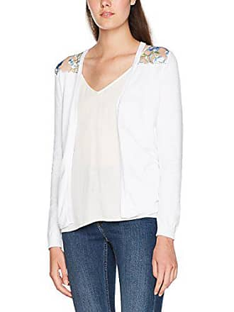 Lace New Mujer Back Chaqueta Blanco Para Look Punto Embroidered 36 0vEvw