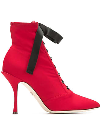 amp; À Gabbana Dolce Lacets Bottines Rouge RS0pw
