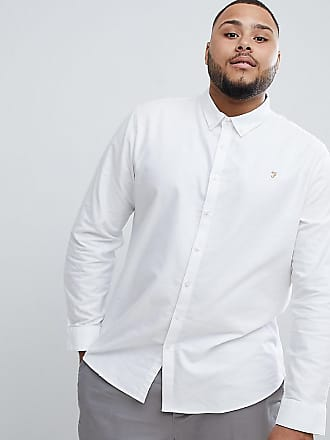 Asos De Blanca Corte Camisa En Brewer Slim Farah Abotonada Exclusiva qO4PxP