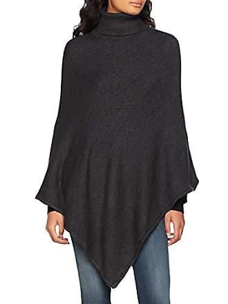 Poncho Melange Clothes dark Vila Donna Grey Rollneck Grigio Noos Knit Viril v6qxfdqwI